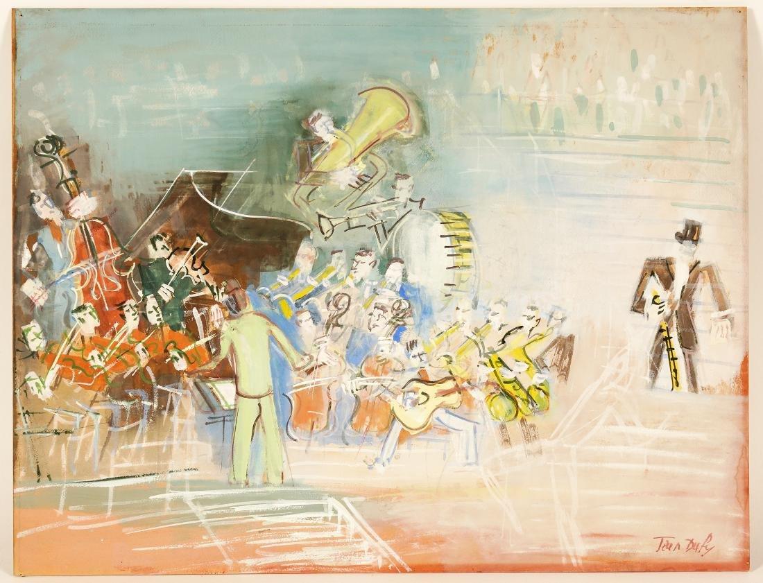 Jean Dufy 'L Ochestre' Gouache on Paper - 5