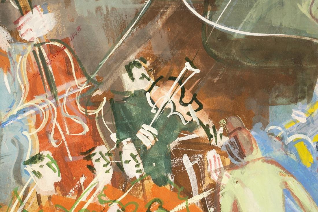 Jean Dufy 'L Ochestre' Gouache on Paper - 7