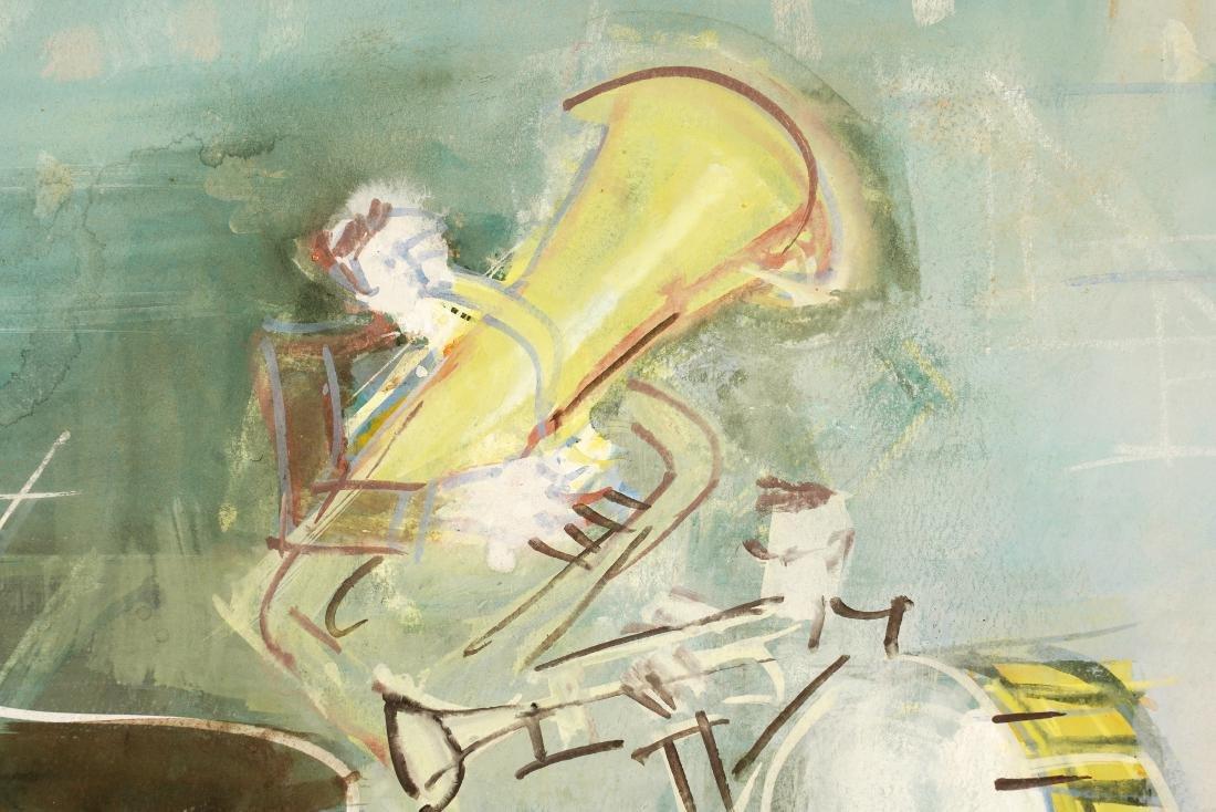 Jean Dufy 'L Ochestre' Gouache on Paper - 8