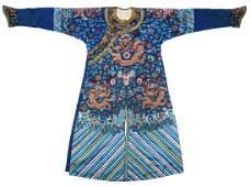 Chinese Qing Dynasty Silk Imperial Dragon Robe