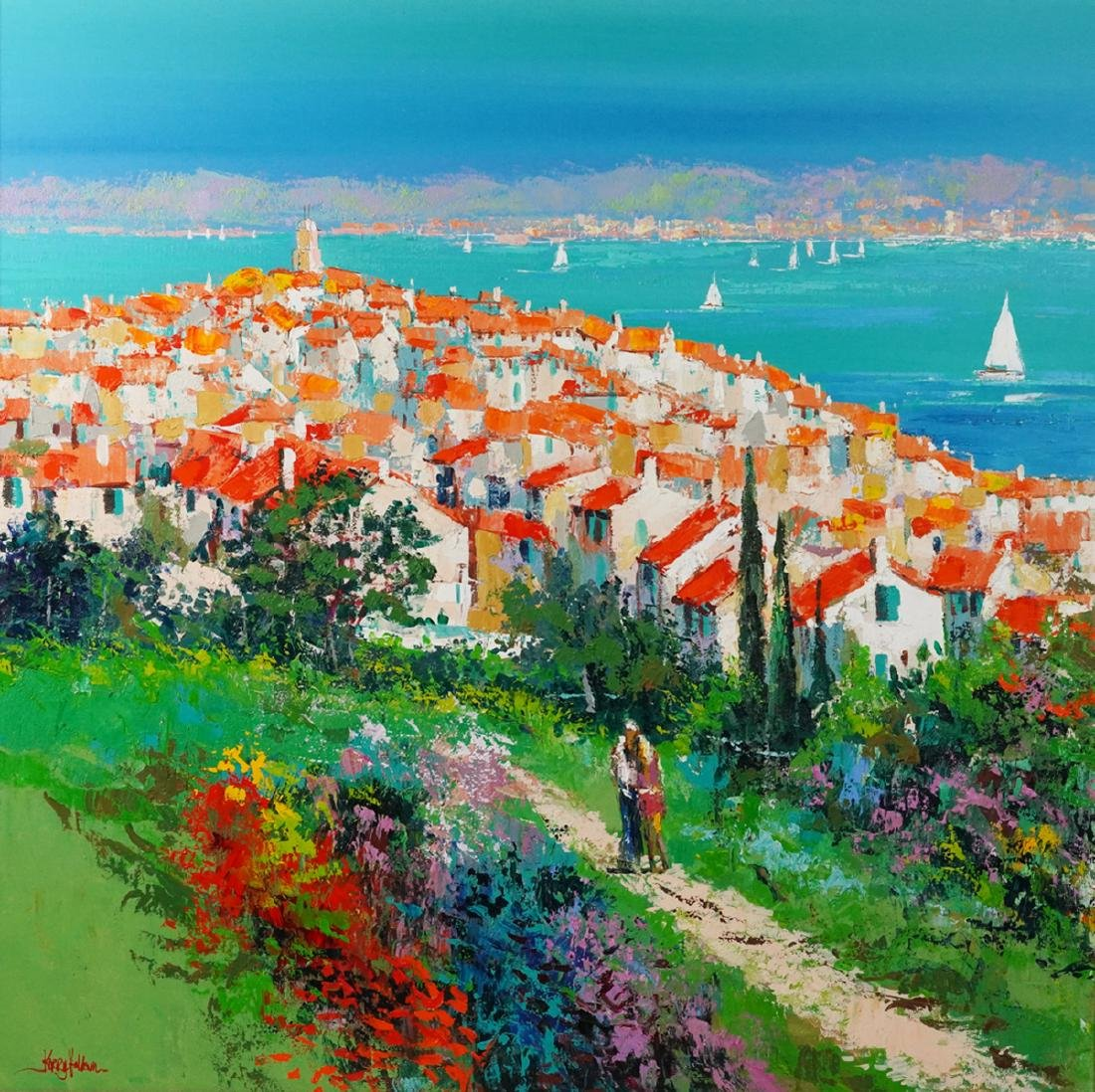 Robert Philipp 'In Love Again' Oil Painting - 10
