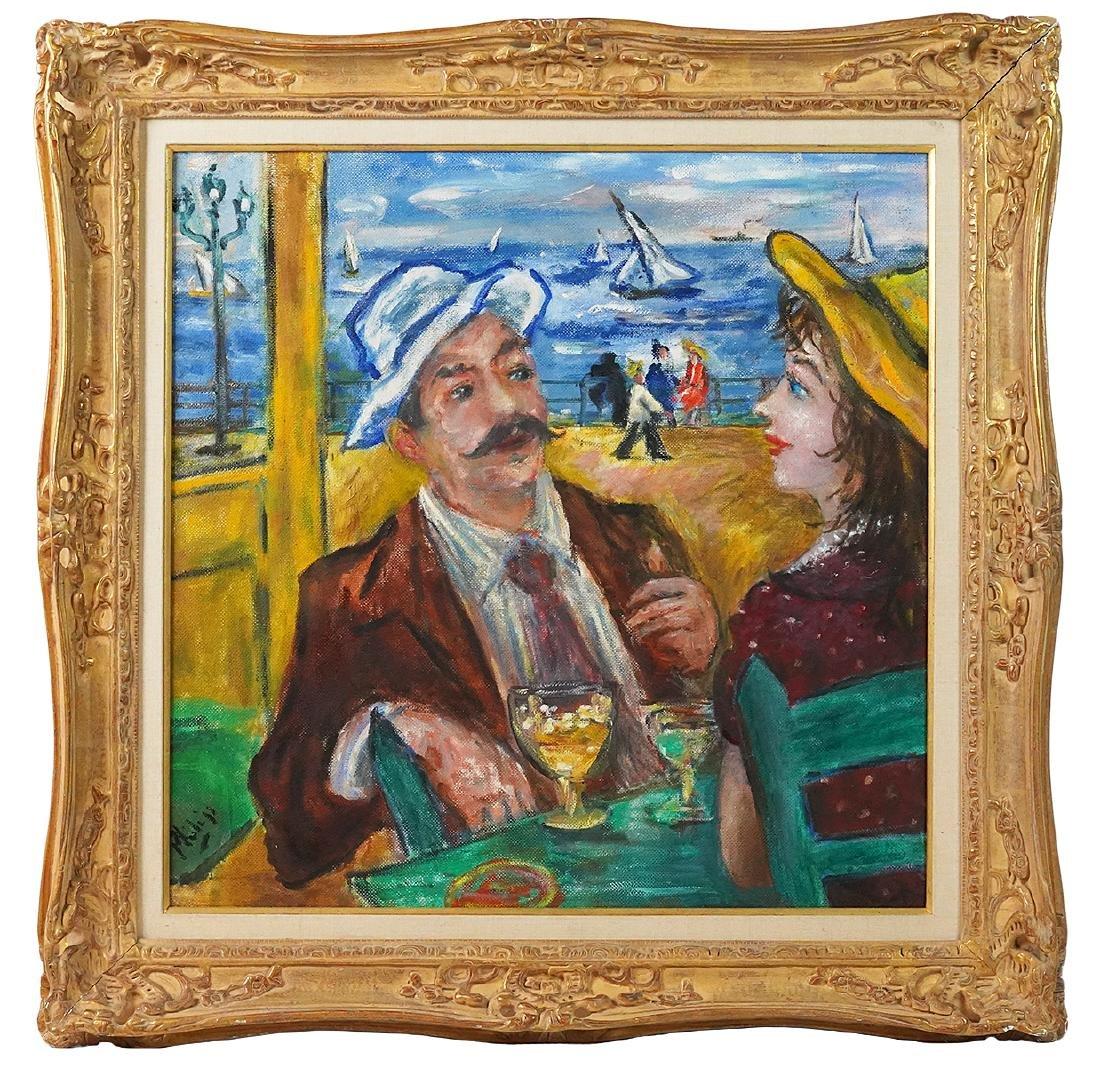 Robert Philipp 'In Love Again' Oil Painting