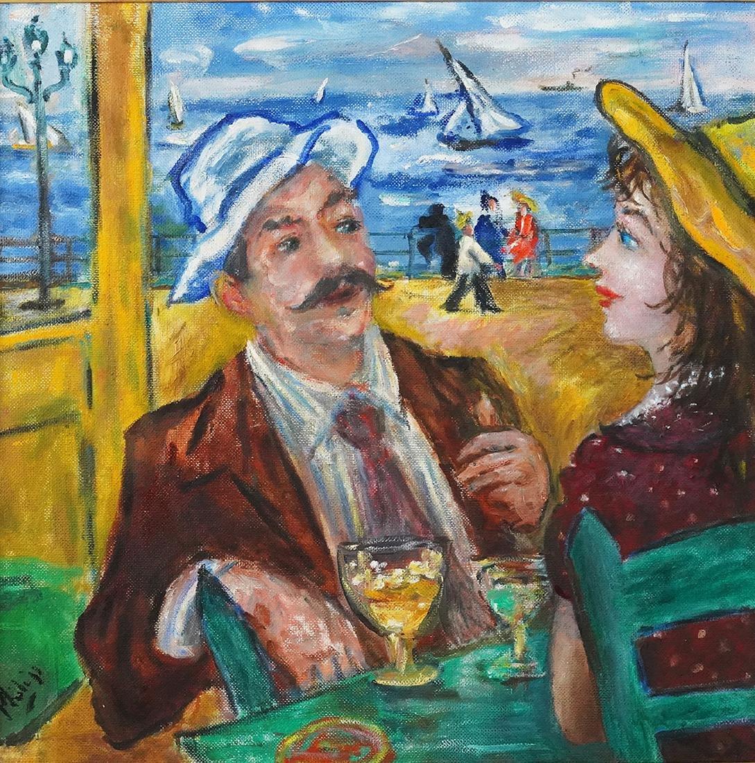 Robert Philipp 'In Love Again' Oil Painting - 2