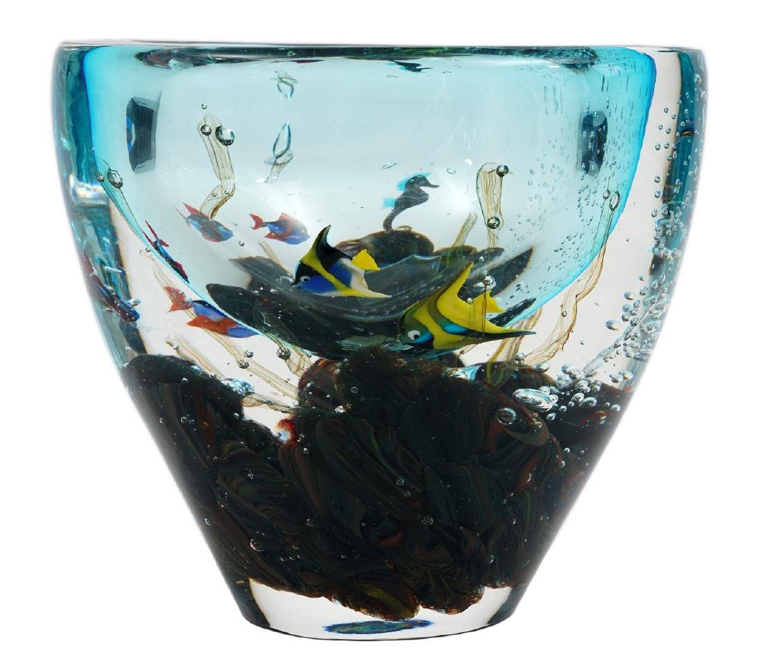 Stefano Toso Murano Glass Aquarium Vase