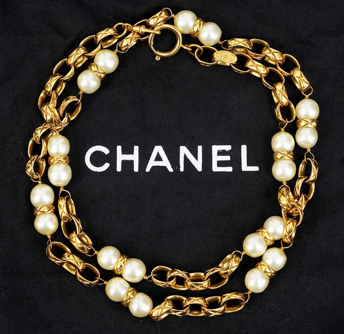 Chanel Pearl and Bijoux Chain Necklace
