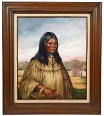 James Hutchinson 'Native American Matriach' O/C
