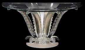 Lalique DemiLune Cactus Console Table