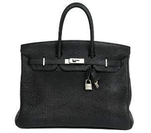Hermes Birkin 35cm Graphite Leather Handbag