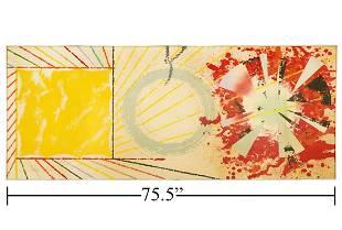 Large James Rosenquist 'Yellow Landing' Silkscreen