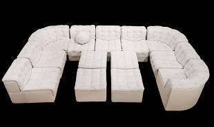 Stendig DeSede 11 Patchwork White Leather Sofa