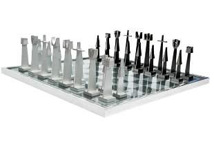 Austin E. Cox Aluminum Chess Set