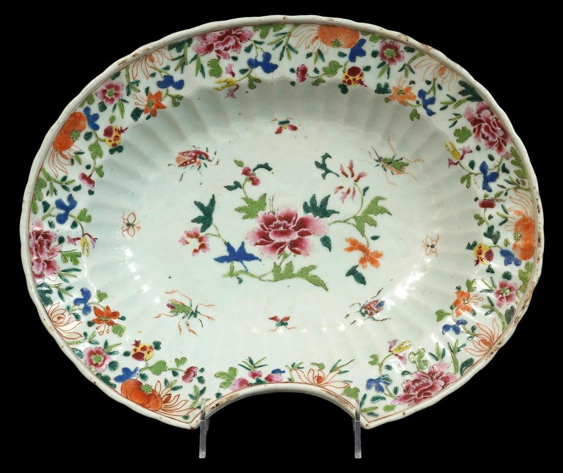 Chinese Export Porcelain Shaving Bowl