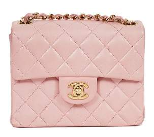 Chanel Pink Quilted Mini Flap Shoulder Bag 2004
