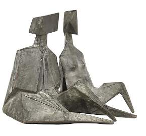 Lynn Chadwick Bronzes 'Pair of Sitting Figures II'