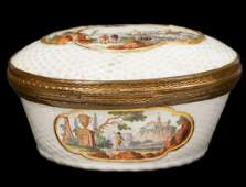 Meissen or Related 18th Ct Porcelain Box