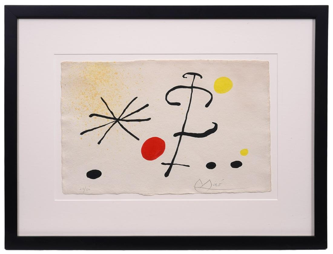 Joan Miro Signed Lithograph