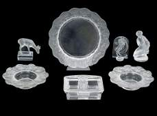 7 Pc Assortment of Lalique Crystal