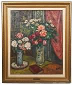 Georges D'Espagnat 'Vase De Fleurs' O/C Painting