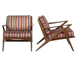 Pair Poul Jensen Z Chairs for Selig