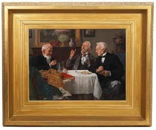 Louis Henry Charles Moeller Oil Painting