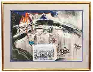 Salvador Dali 'Central Park in Winter' Lithograph