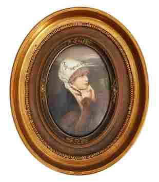 KPM 19th C. Plaque 'German Bride'