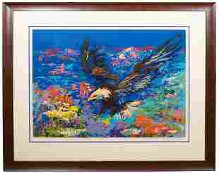 Leroy Neiman Serigraph 'American Bald Eagle'