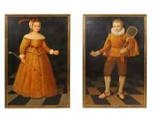 William Skilling 2 Paintings Oil on canvas