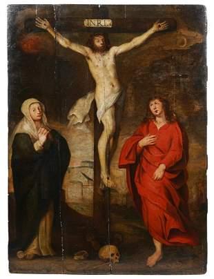 17/18th C. Flemish School Painting on Wood Panel