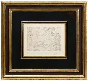 Pablo Picasso 'Scene Erotique' Etching