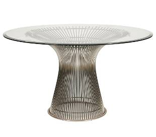 Warren Platner for Knoll Glass Top Dining Table