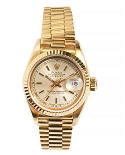 Rolex 18K YG 1989 Datejust Presidential Watch