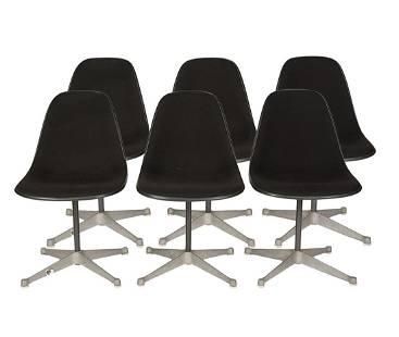 6 Herman Miller Black Swivel Chairs