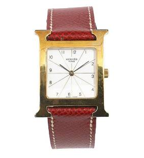 Hermes 'H Watch' Gold Plated Stainless Steel
