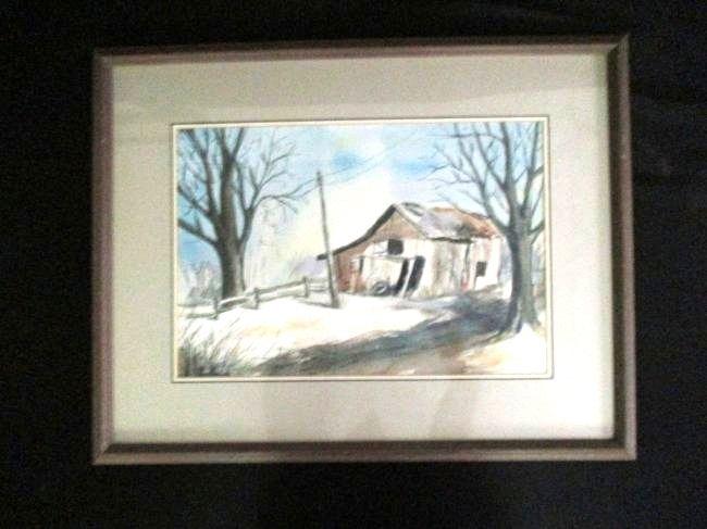 Caswell / Lot of 2 Original Watercolors