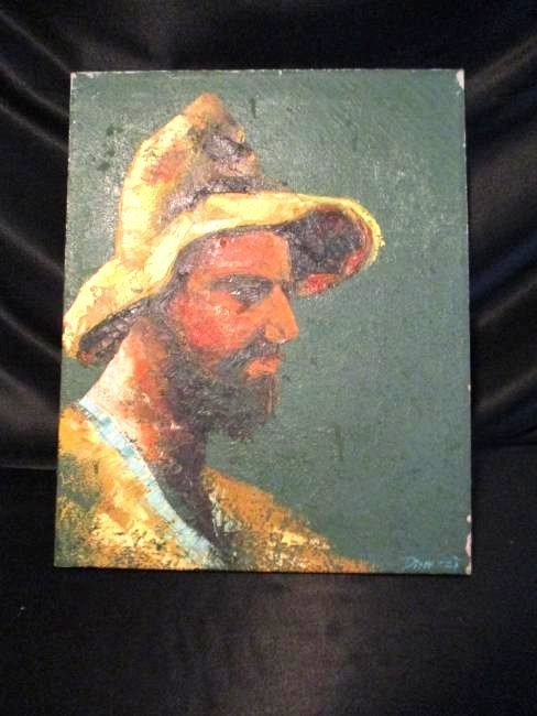 Pinezzi / Oil on Canvas / Portrait of Fisherman