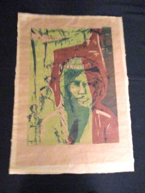 Mary Hershberger / 1960's Woodcut