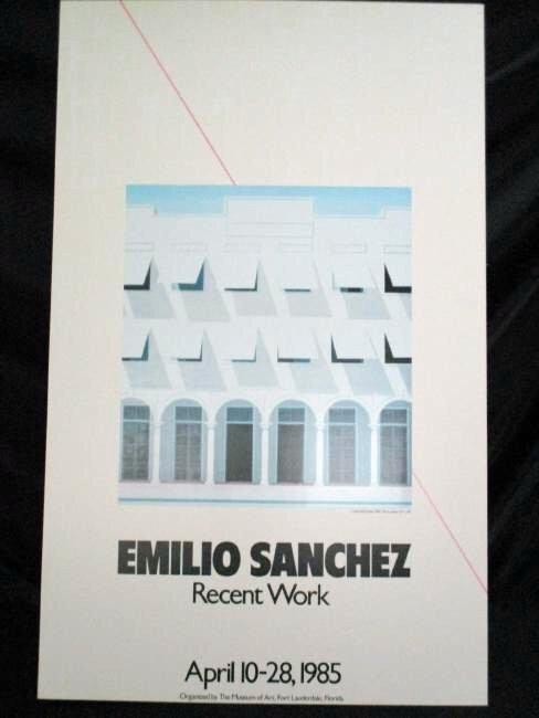 Emilio Sanchez / Exhibition Lithograph 1985