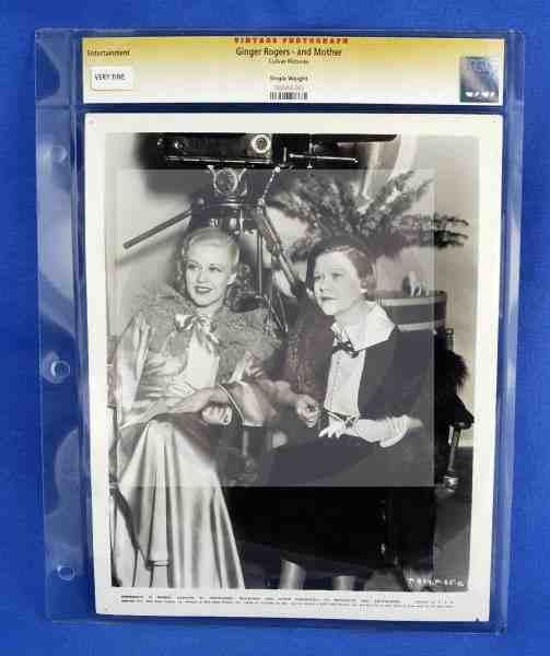 CGC Photo Ginger Rogers and her Mother 1937