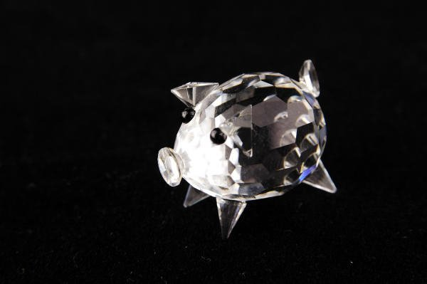 3: Swarovski Crystal Mini Pig