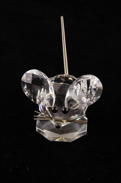 7A: Swarovski Crystal Small Mouse with Wire Tail