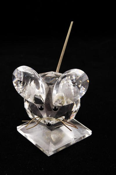 7B: Swarovski Crystal Large Mouse with Wire Tail