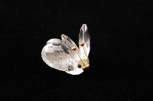 9B: Swarovski Crystal Mini Butterfly w/ Gold Antenna