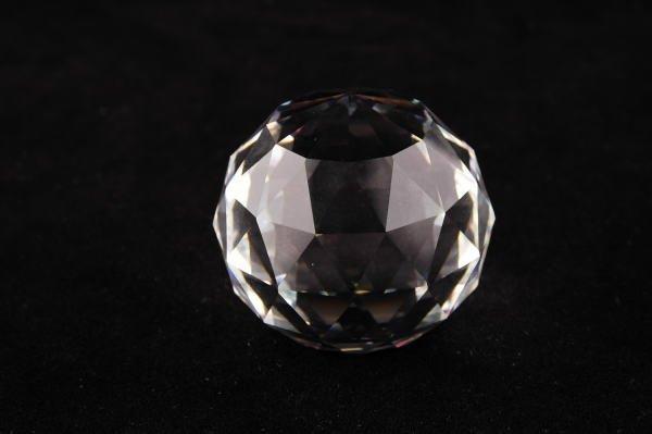 13A: Swarovski Crystal Vitrail Round Paperweight