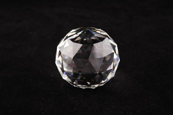 13B: Swarovski Crystal Clear Round Paperweight