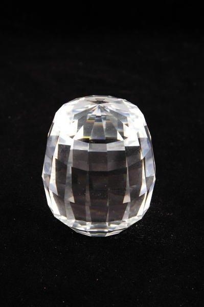 13C: Swarovski Crystal Barrel Paperweight