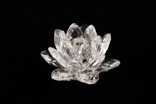 14: Swarovski Crystal Small Waterlily Candleholder