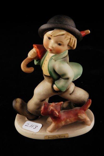 2113: Hummel Figurine Strolling Along 5 TMK 4