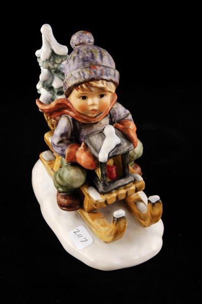 2117: Hummel Figurine Ride Into Christmas 396/I TMK 6