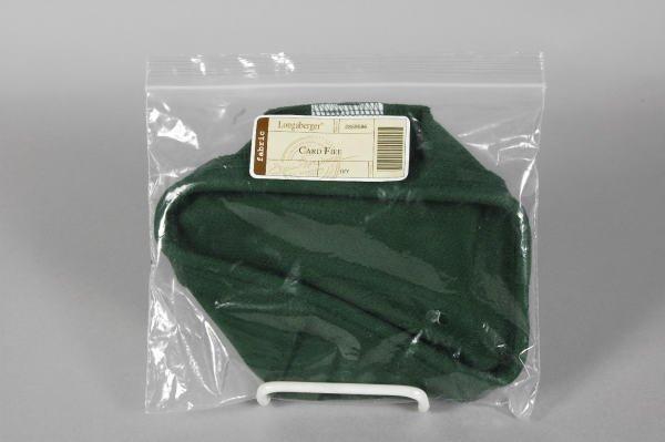 1008: Longaberger Ivy Green Biscuit Basket Liner MIB